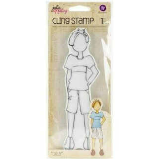 Carimbo -  Cling Rubber Stamps Billy - Prima Marketing