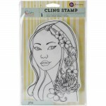 Carimbo -  CLING STAMP - JING BLOOM  - Prima Marketing