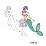 Carimbo -Cling Stamp Sea Sallie Mermaid- Prima Marketing