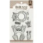 Carimbo - Bo Bunny - Clear Stamp - Monsters Stamp