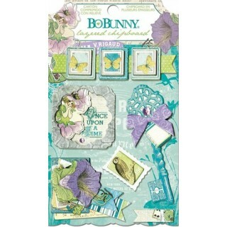 Apliques Chipboard - Enchanted Garden - Bo Bunny