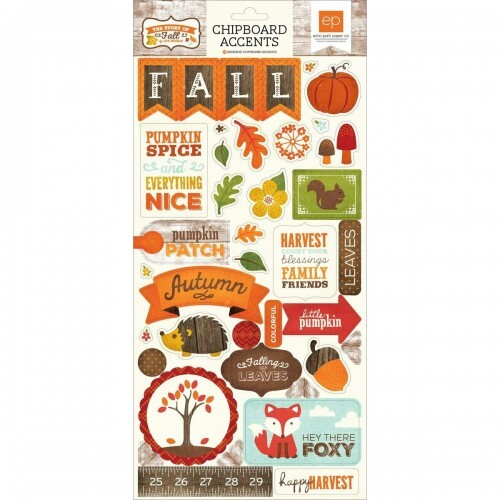 Adesivo Chipboard - The Story Fall - Echo Park Paper