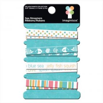 Kit de Fitas - Sea Ribbons Streamers - Imaginisce
