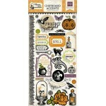 Adesivo Chipboard - Arsenic and Lace Chipboard Stickers - Echo Park Paper