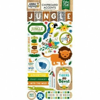 Adesivo Chipboard - Jungle Safari - Echo Park Paper