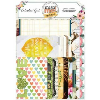 Acessórios p/ Scrapbook -  Journal Contents - Calendar Girl