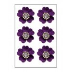 Bailarina - Floral Brads Purple Velvet  - Creative Imaginations