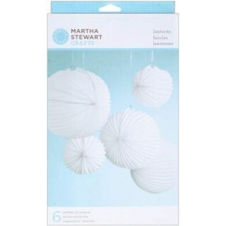 Lanternas de papel - Doily Lace White Accordian - Martha Stewart