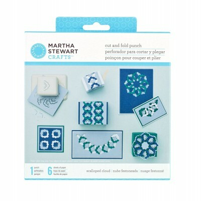 Furador - Cut And Fold Punch Nuvens Escalopadas - Martha Stewart