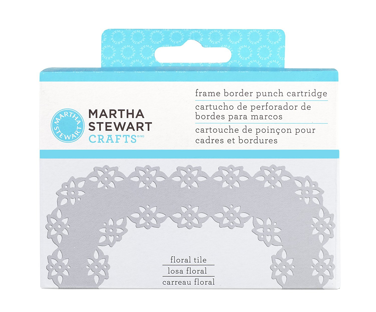 Furador - Frame Border Punch Cartridge - Floral Tile - Martha Stewart
