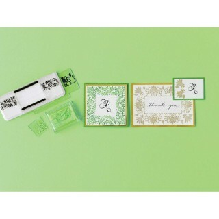 Kit 6 Carimbos - Stamp Aroud The Page - Flourishes and Leaves -Martha Stewart