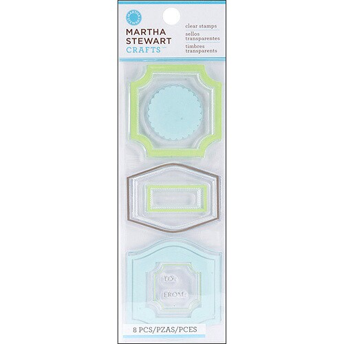 Carimbos - CLEAR STAMPS HALF LABELS - Martha Stewart