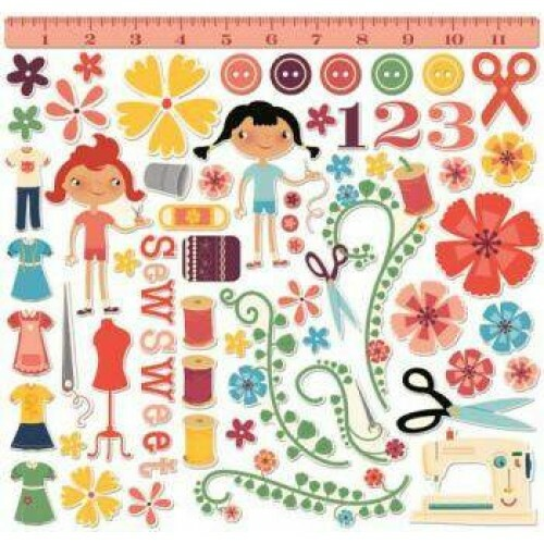 Kit Chipboard - Set 12 - Material Girl - Cosmo Cricket