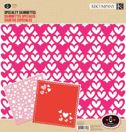 Kit Specialty Silhouettes com 6 Folhas  30,5x30,5