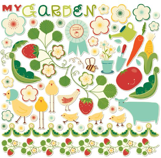 Kit Chipboard - Garden Variety  - Cosmo Cricket