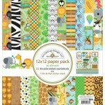 Kit Paper Pack - At The Zoo - 30,5 x 30,5 c/ 12 Folhas - Doodlebug Design inc