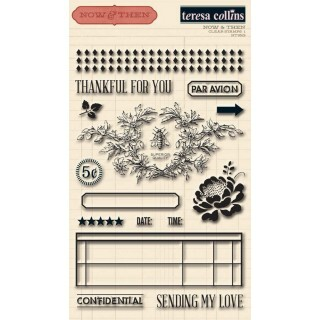 Carimbo - Now & Then Clear Stamps - Teresa Collins