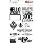 Carimbo - Hello My Name Is Clear Stamps - Teresa Collins