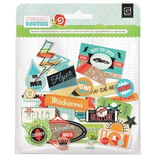 Recortes em Papel - Chipboard Shapes - Bow Ties - Basic Grey