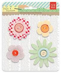 Flores de Feltro - Fabric Flowers - Serendipity & Shine On