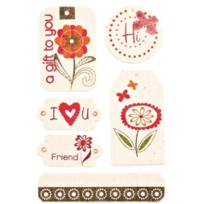 Etiquetas (Tags) - Canvas Tags - Green at Heart - Basic Grey