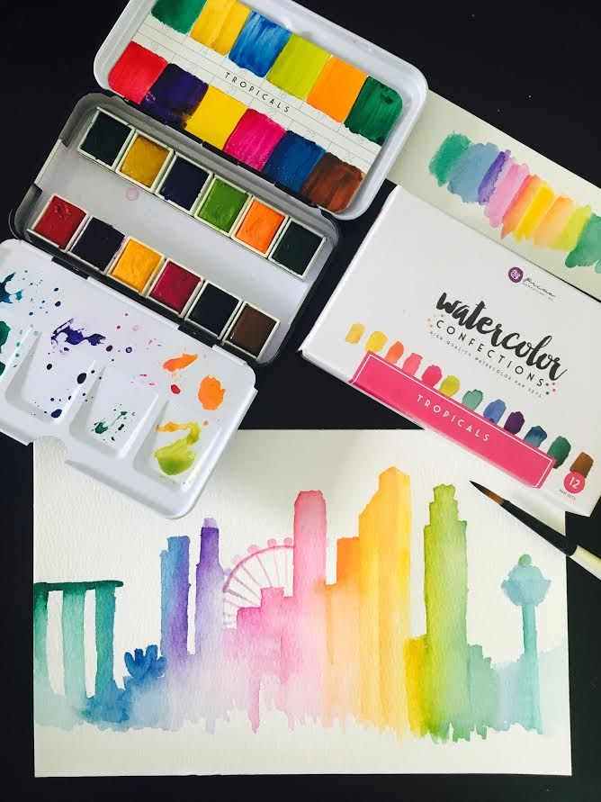 Tinta Aquarela - Watercolor Confections (Shimmering Lights) Prima Marketing