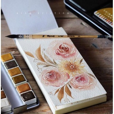 Bloco de Papel para Aquarela 15,2x15,2cm c/ 24 Folhas - Watercolor Paper Pad - Prima Marketing