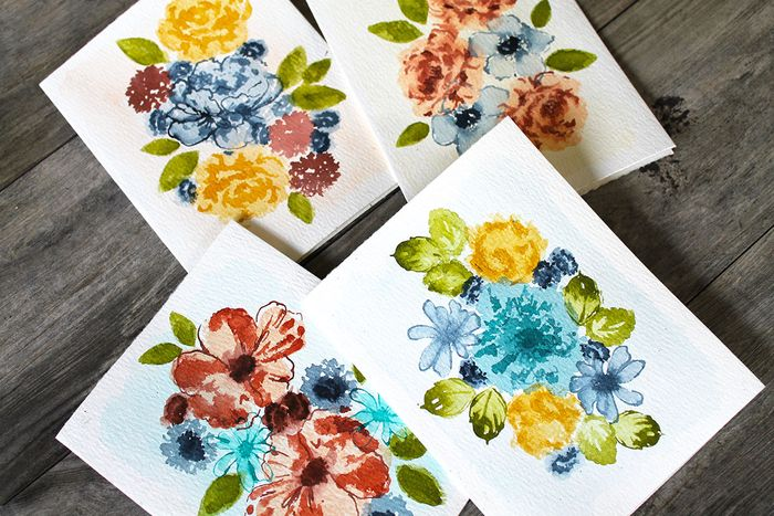 Bloco de Papel para Aquarela 7,6x15,9cm c/ 24 Folhas - Watercolor Paper Pad - Prima Marketing