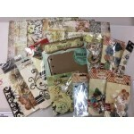 Kit Class - Para criar Álbum Vintage de Scrapbook - Prima Marketing