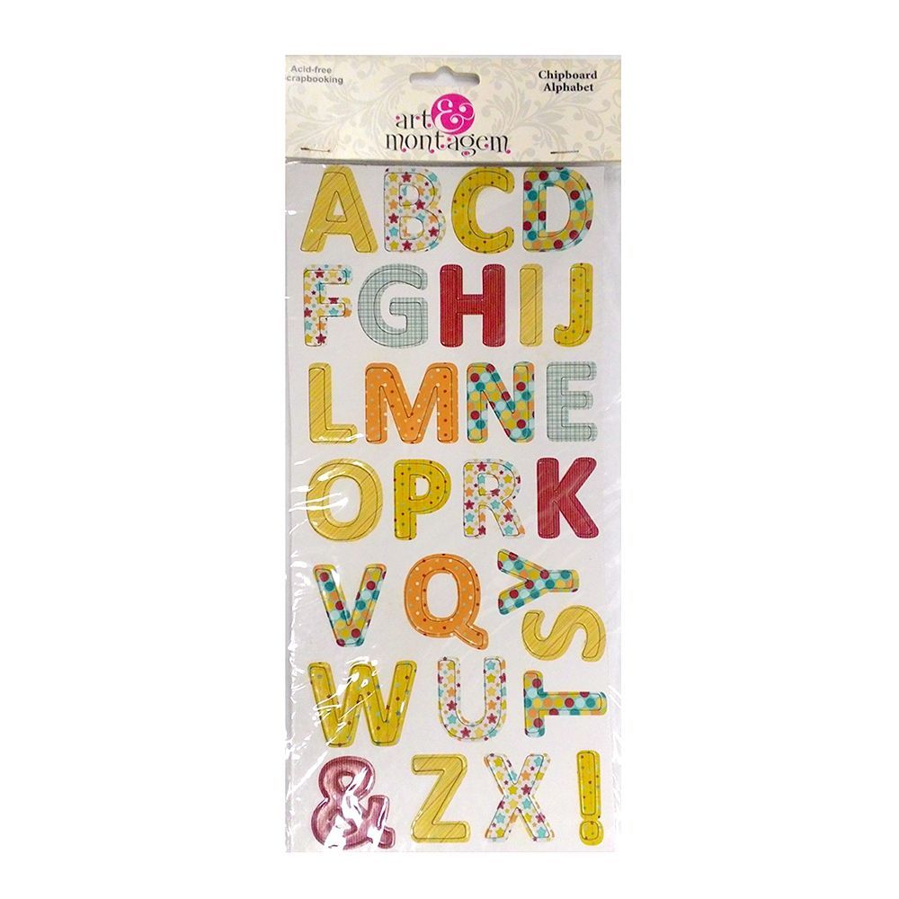 Alfabeto Chipboard - Art&Montagem - Alphabet Party