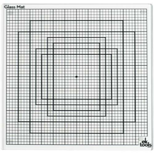 Base de Vidro 32x32cm - Glass Mat - Ek Tools