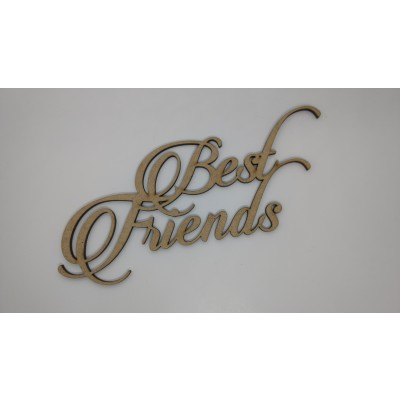 Aplique em MDF - Best Friends - Super Cut
