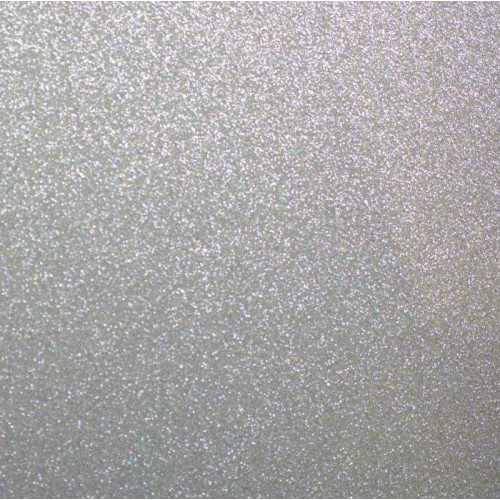 Papel Glitter Pow American Crafts - Silver
