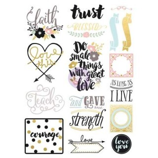 Cartela de Adesivos - Trust Blessed - Prima Marketing