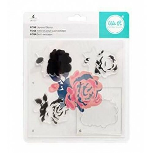 Carimbo CMYK Stamps - Rose - We R Memory Keepers