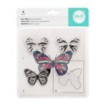 Carimbo CMYK Stamps - Butterfly - We R Memory Keepers