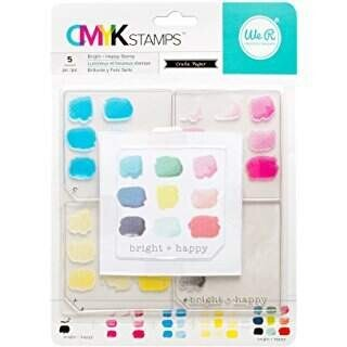 Carimbo CMYK Stamps - Bright + Happy - We R Memory Keepers