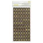 Alfabeto Adesivo Flashcard - Yellow - Thickers - American Crafts