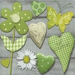 Guardanapo Decoupage c/ 2 unidades 33x33cm - Green Selection