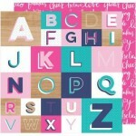 Papel Glitter Girl - Spell It Out 180gr - 30,5x30,5
