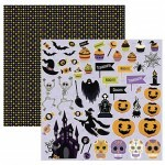 Papel Halloween Recortes 180gr 30,5x30,5