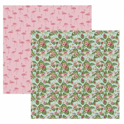 Papel Flamingos Estampas 180gr 30,5x30,5