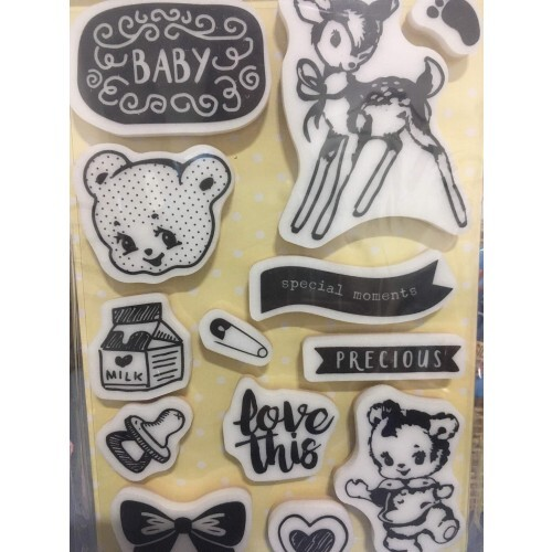Carimbo Heaven Sent - Cling Stamps - Prima Marketing