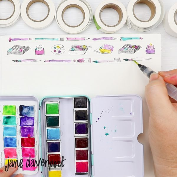 Tinta Aquarela -  Watercolors Set - Brights - Jane Davenport