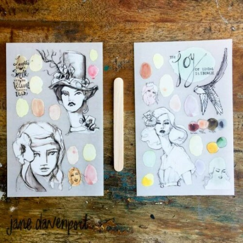 Decalques - Rub-on Transfer Sheets - Neutrals - Jane Davenport