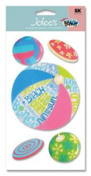 Cartela Adesivos - Beach Ball - Jolees Boutique