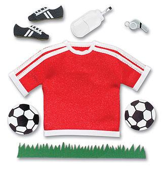 Cartela Adesivos - Red Varsity Soccer - Jolees Boutique