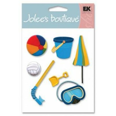 Cartela Adesivos - Beach Toys - Jolees Boutique
