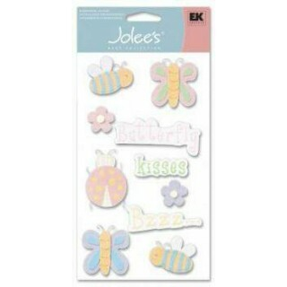 Cartela Adesivos - Flower Bee Butterfly - Jolees Boutique