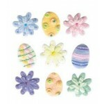 Cartela Adesivos - Felt Flowers & Eggs - Jolees Boutique